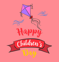 Happy childrens day cartoon style vector