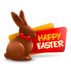 Happy easter festive label or badge vector