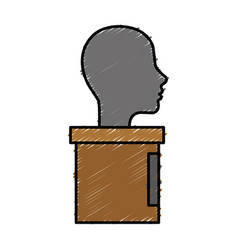 Human head icon vector