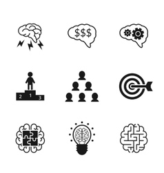 Idea icons set Business strategy and management vector image vector image