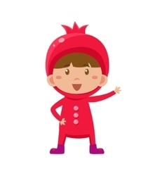 Kid In Pomegranate Costume vector image