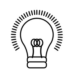 light bulb cartoon vector image