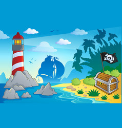 Lighthouse theme image 2 vector