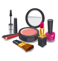 make up product collection vector image