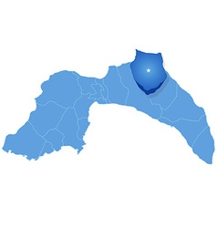 Map of Antalya - Ibradi is pulled out vector