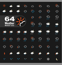 Mega pack of weather icons vector