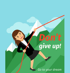 Motivation poster dont give up vector
