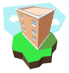 Multi-storey building 3d vector