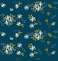 naive simple floral seamless pattern vector image