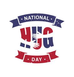 national hug day vector image