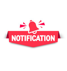 new notification banner with hand bell sign vector image