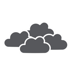 Overcast glyph icon weather and climate cloudy vector