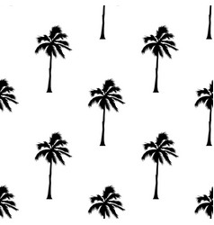palm tree pattern seamless texture on white vector image
