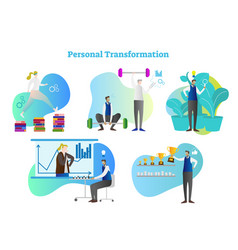 personal transformation set vector image