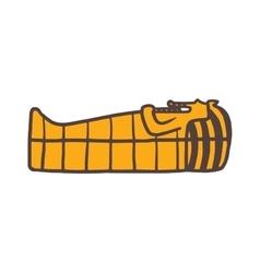 Pharaoh sarcophagus vector image