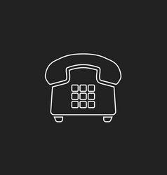 Phone icon in line style old vintage telephone vector