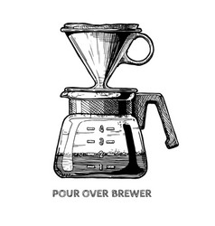pour over brewer vector image