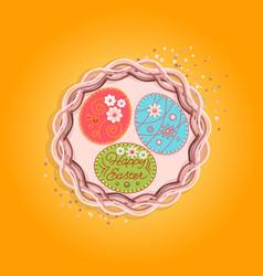Print nest eggs vector