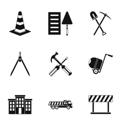 Repair icons set simple style vector