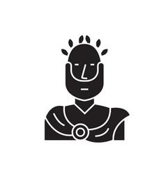 Roman emperor black concept icon roman vector