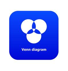 Round venn diagram icon blue vector