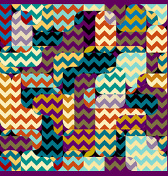 Seamless square pattern abstract color vector