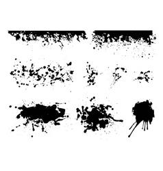 set artistic ink watercolor splashes vector image