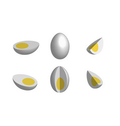 set of eggs in 3d vector image