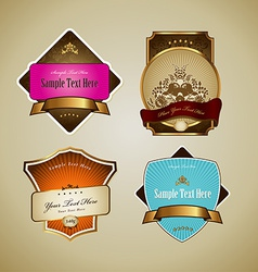 Set of labels with ribbon vector image
