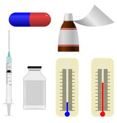 set of s of medical items vector image