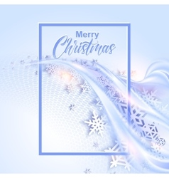 shine winter background with snowflakes vector image