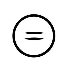 sign equally icon in circle best gray line icon vector image