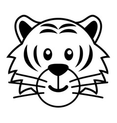 simple cartoon a cute tiger vector image