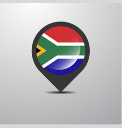 south africa map pin vector image