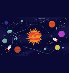 Space background with sun vector
