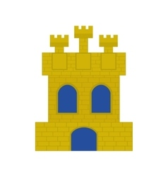 Spanish castle shield isolated icon vector