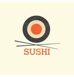 Sushi menu design template vector
