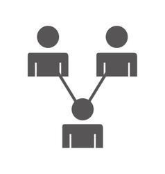 teamwork avatar people flat icon vector image