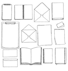 Template of blanks and books vector