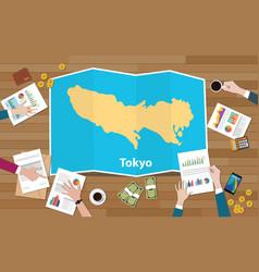 Tokyo japan capital city region economy growth vector