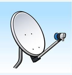 Tv dish parabolic antenna vector