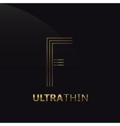 Ultrathin f letter vector