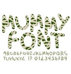 Unusual mummy style alphabet vector image