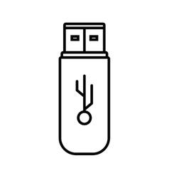 usb memory storage isolated icon vector image