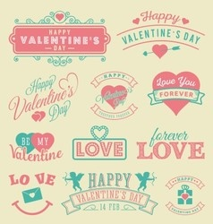 Valentines Day Labels and Emblems Greetings Card vector