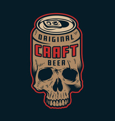 Vintage colorful craft beer concept vector