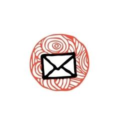 Zentangle icon e-mail vector