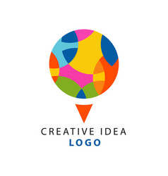 creative idea logo template with abstract circle vector image vector image