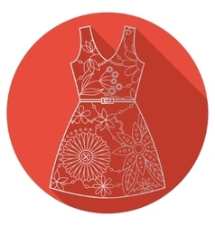 Flat icon of dress vector image vector image