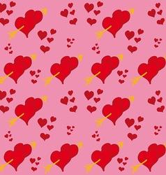 Hearts and Arrows vector image vector image